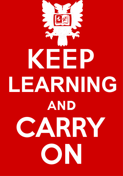 Keep learning and carry on.