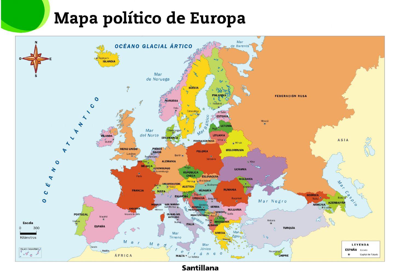 Mapa político de Europa