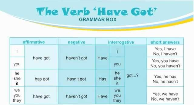 Grammar Box- Have got.