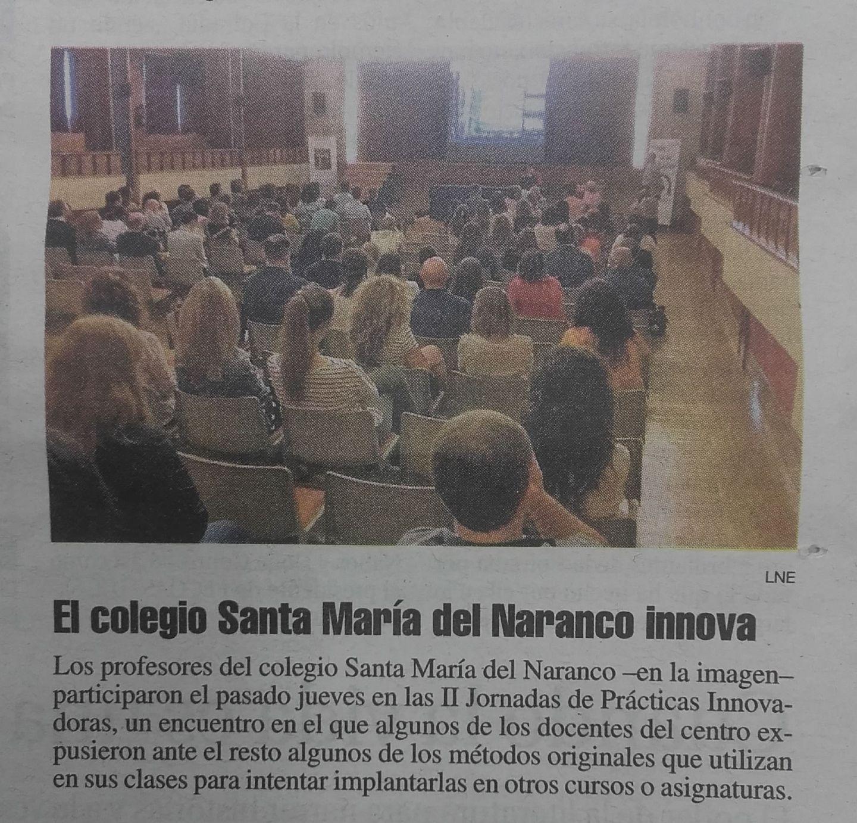 Colegio Santa MAría del Naranco innovación